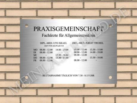 Edelstahlschild 400x300mm