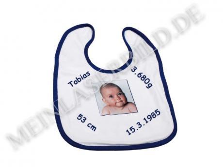 Babylätzchen blau